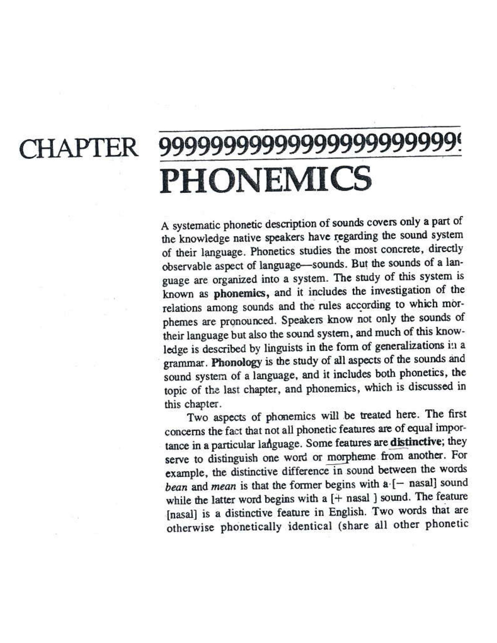 بررسی ابعاد و مفاهیم اصلی - ترجمه انفرادی phonemics