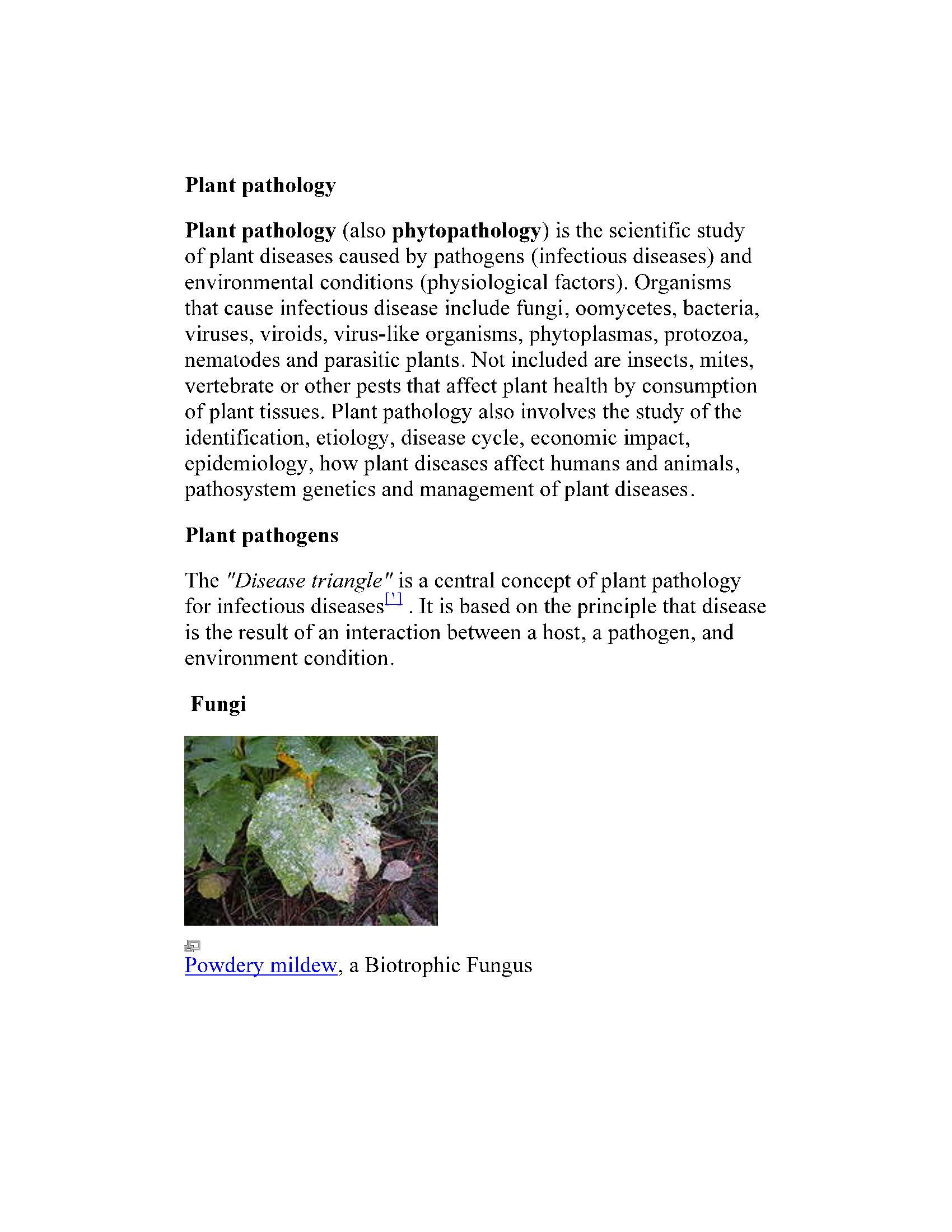 آسیب شناسی گیاهی planet patology