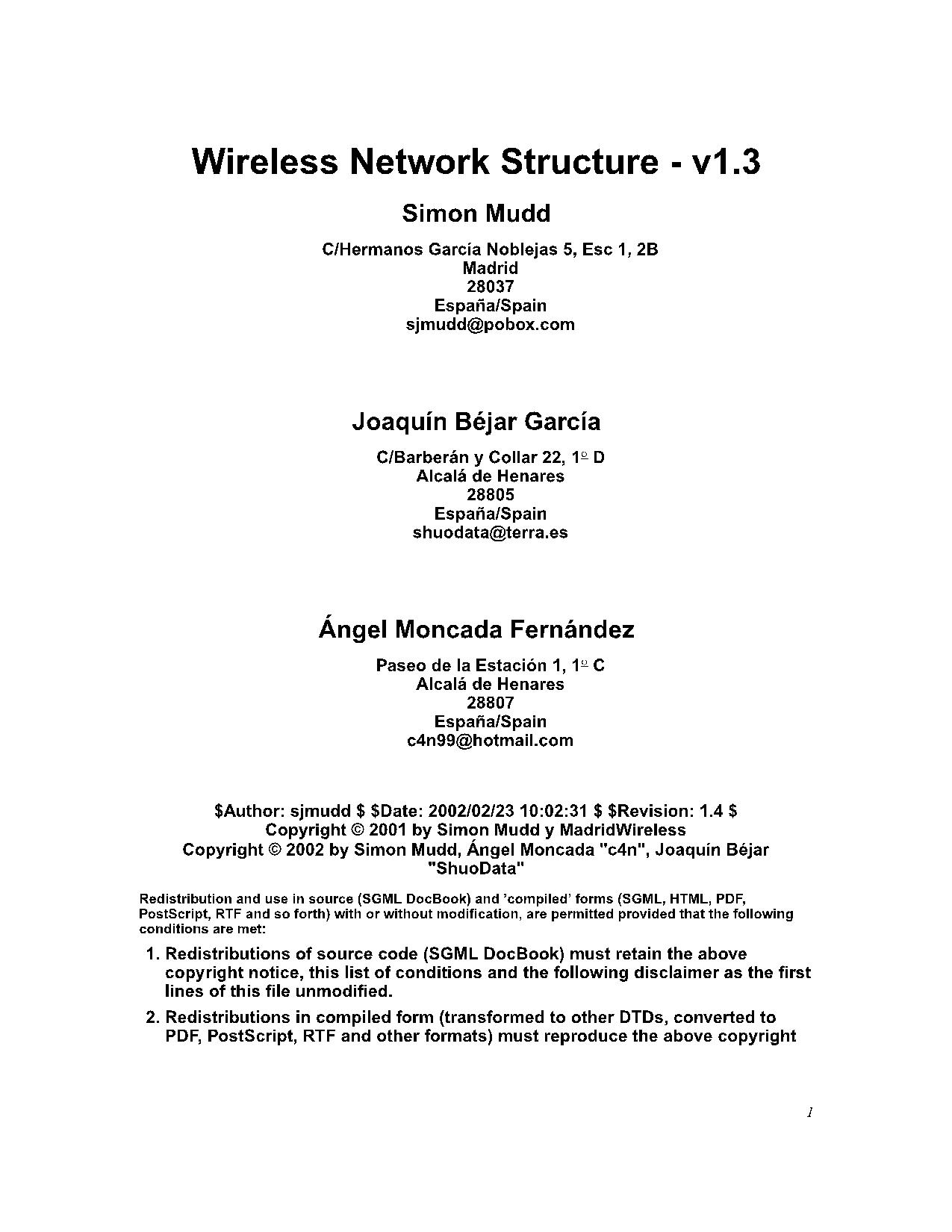 Wireless Network Structure - v1.3  20