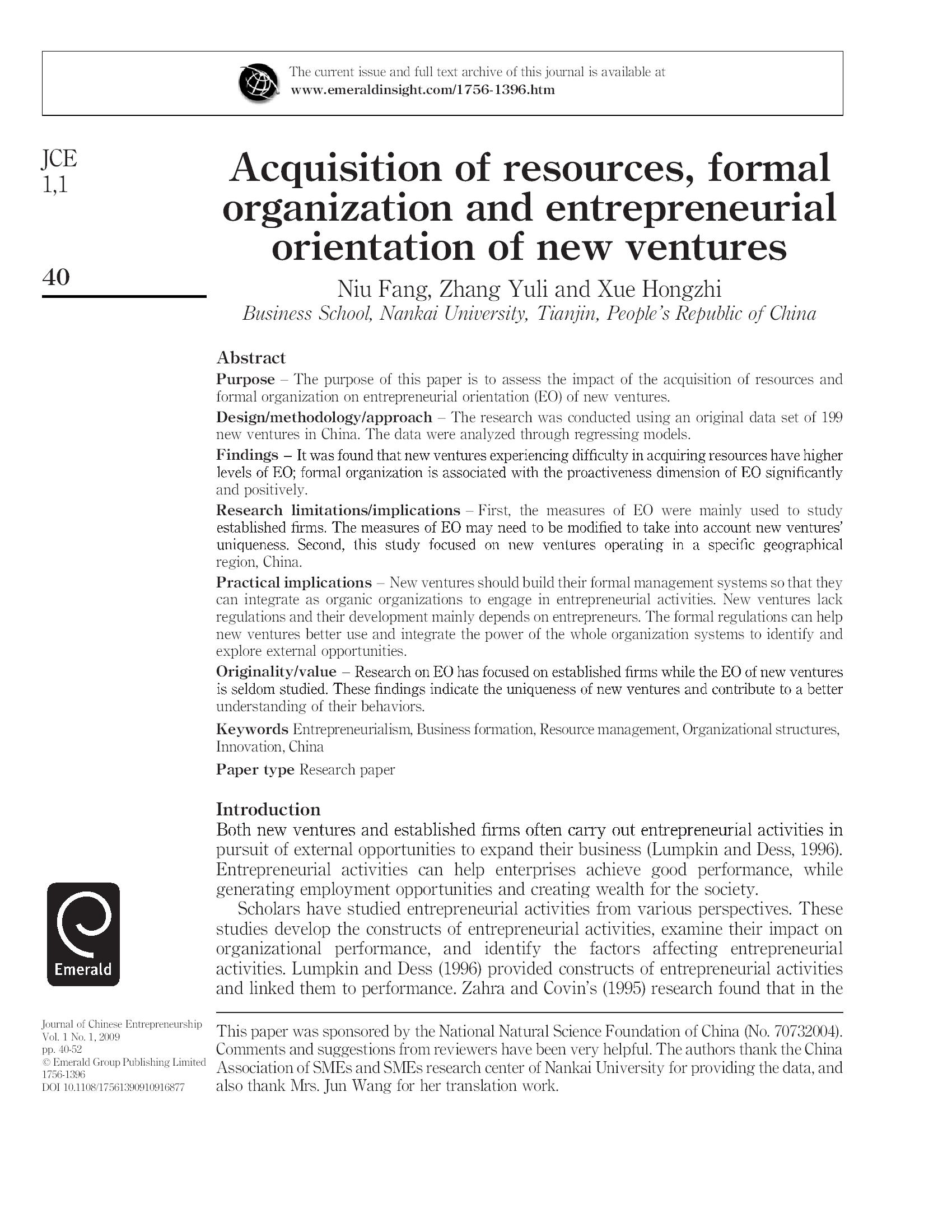 Acquisition of resources, formal13