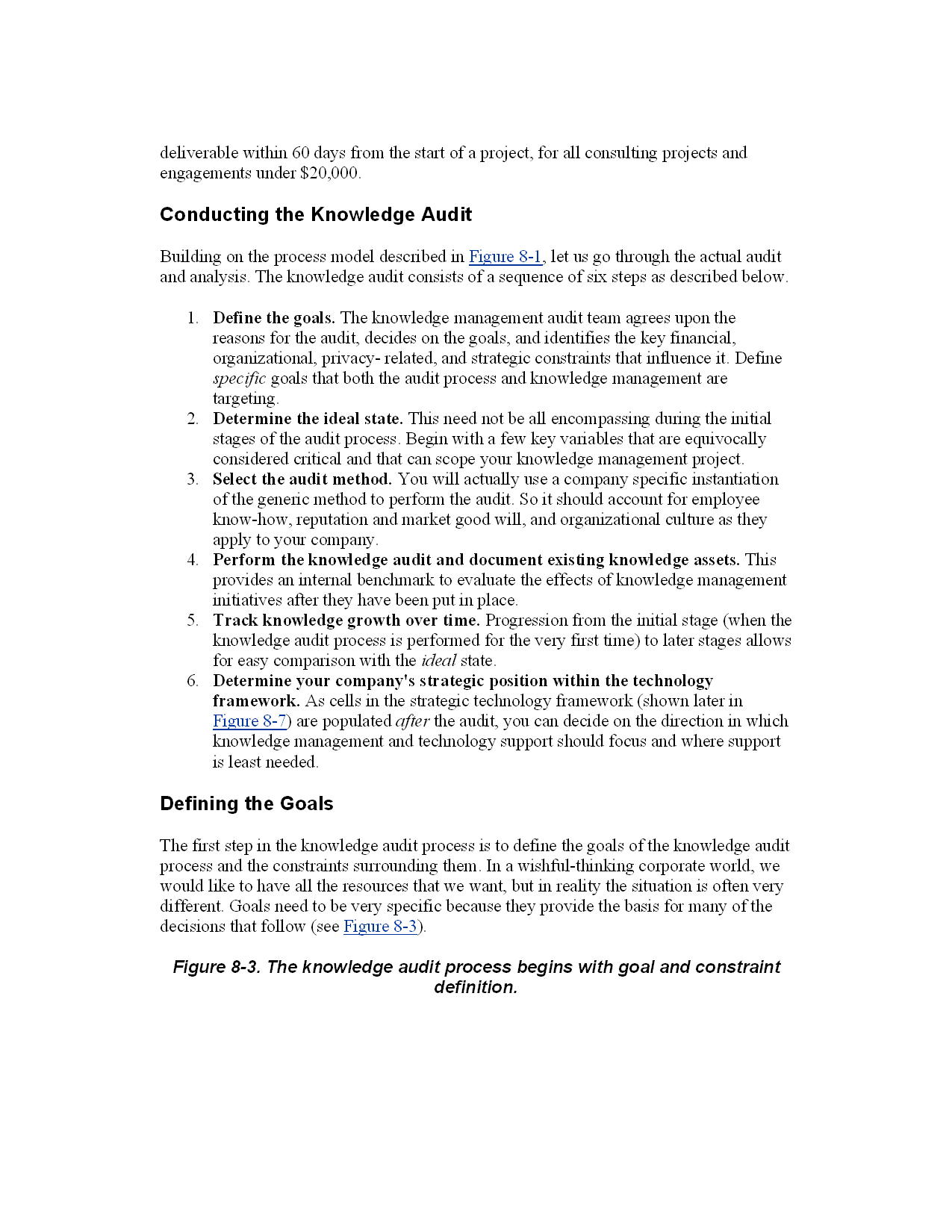 Conducting the Knowledge Audit
