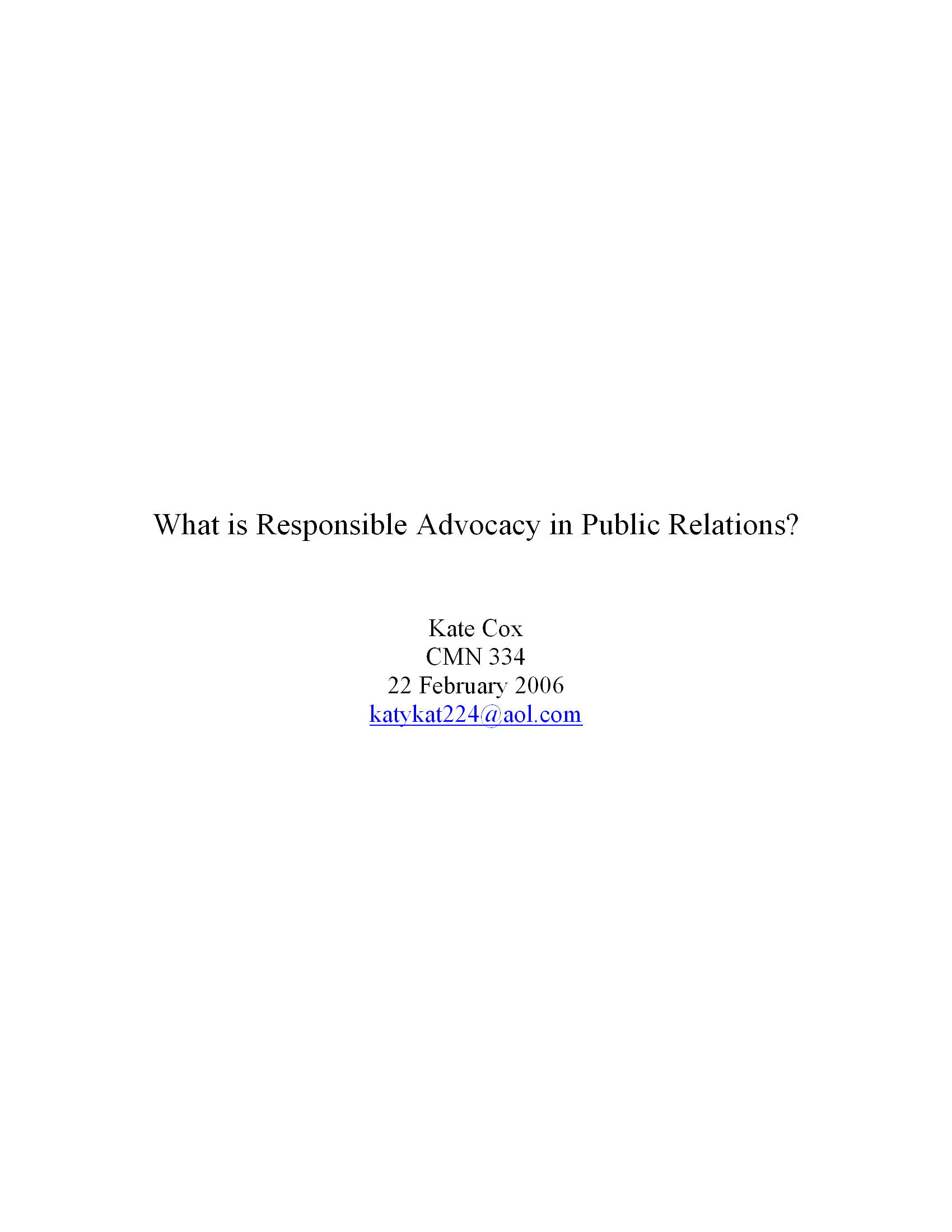 What is Responsible Advocacy in Public Relations? 6