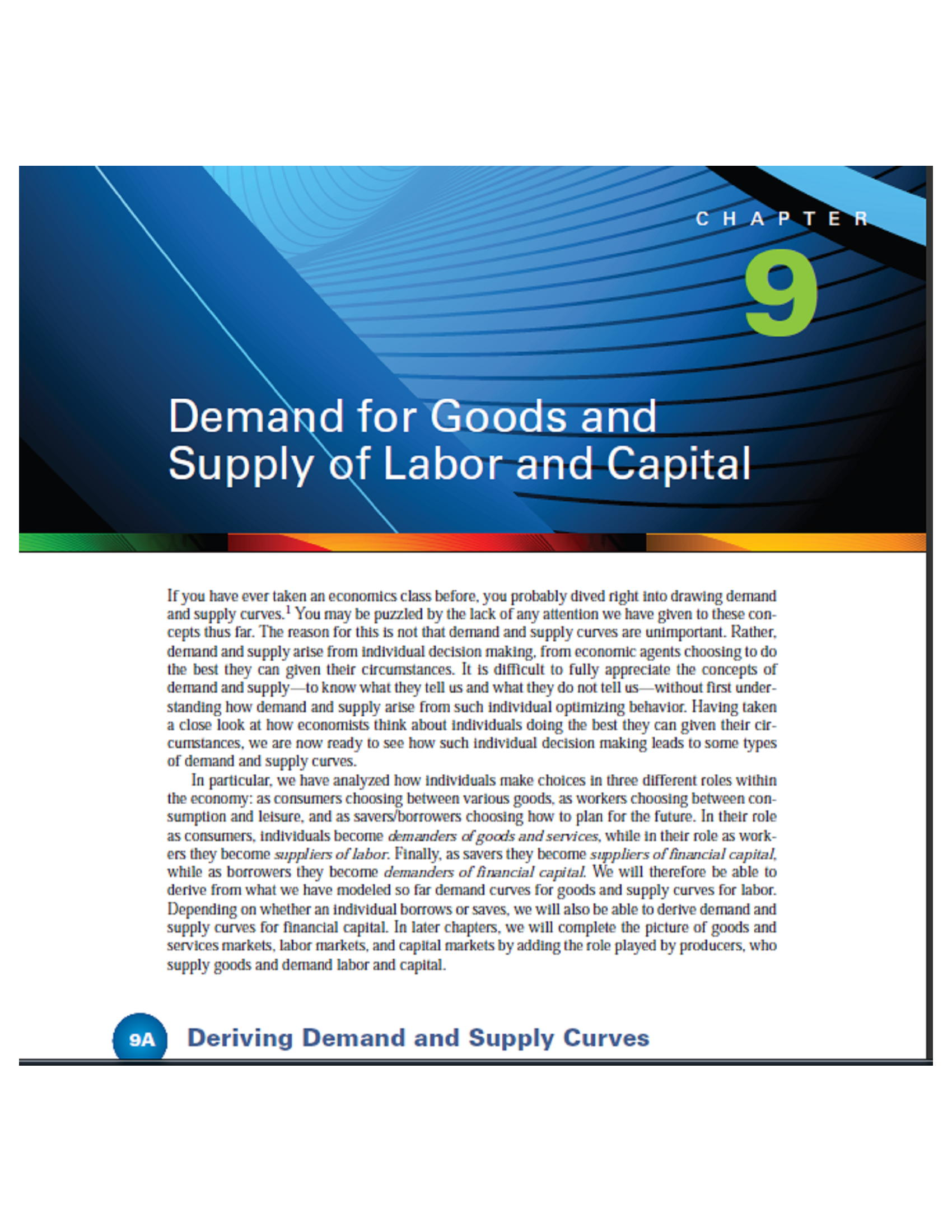 demand for goods and supply of labor and capital 32