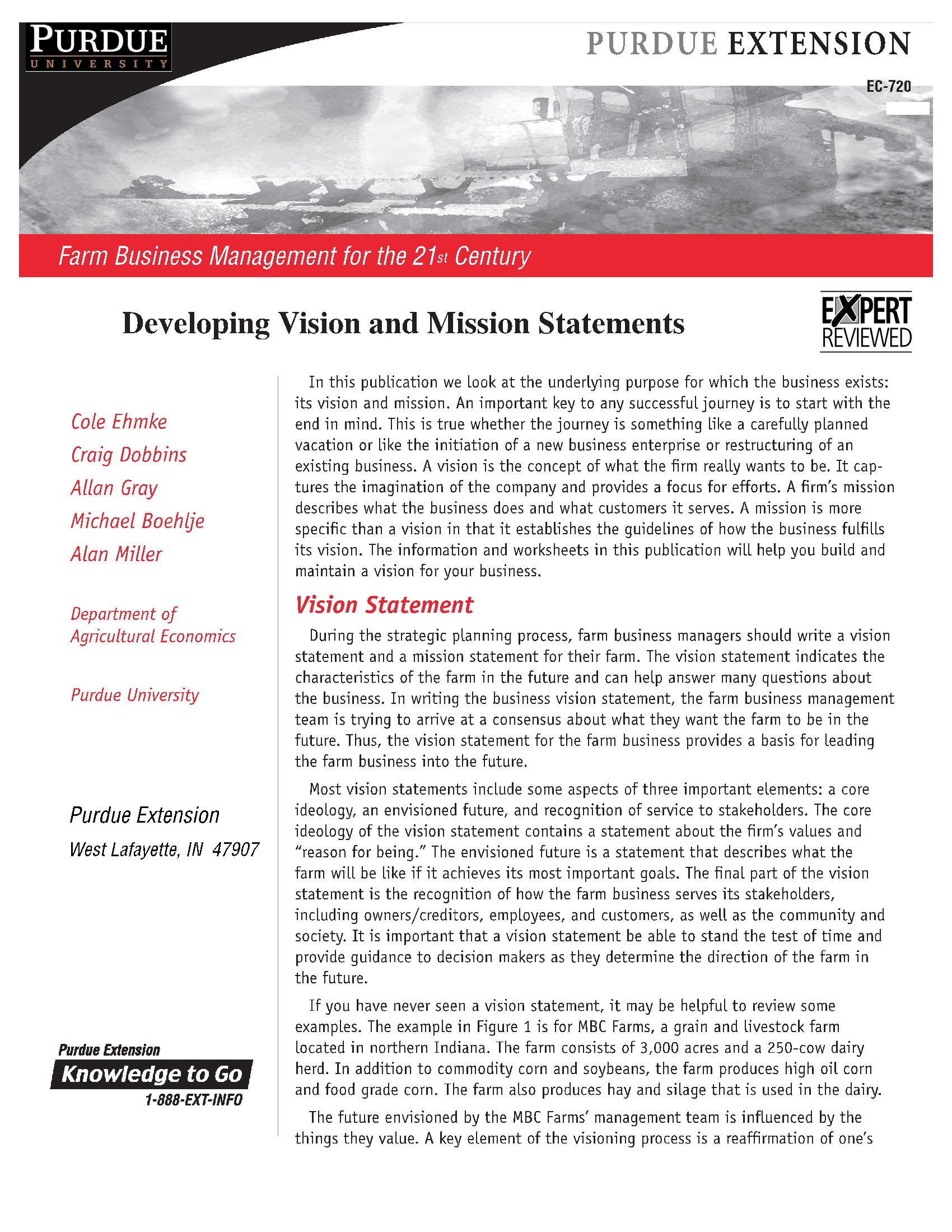 Developing Vision and Mission Statements 12