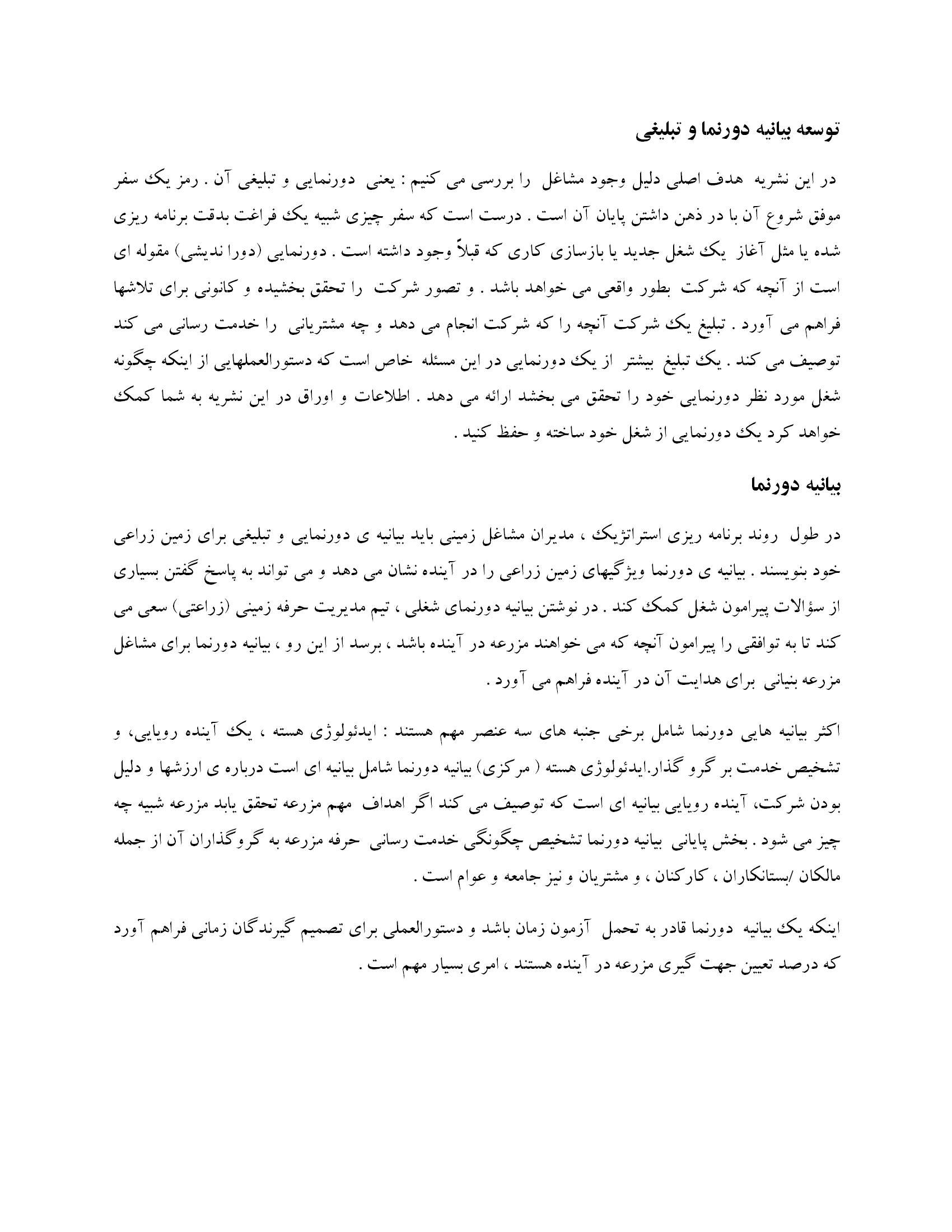 ترجمه مقاله و تحقیق - توسعه بیانیه دورنما و تبلیغی 17
