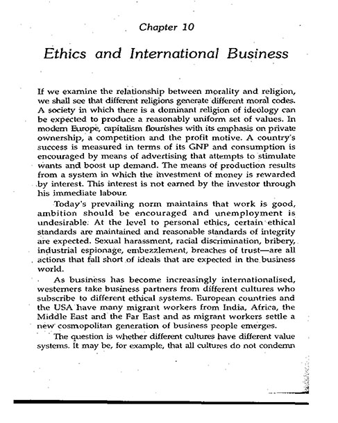ethics and international business
